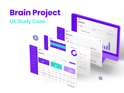 UX Study Case-Brain Project ideate phase app website design web figma ux user flow stydy case low fidelity site map high fidelity discovery phase dashboard card sorting ui