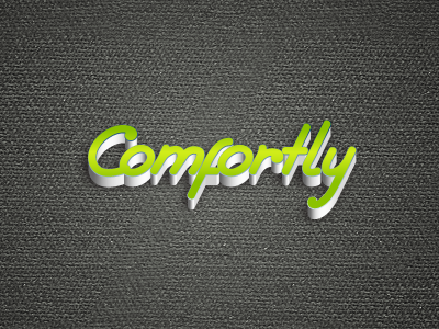 Comfort.ly logo simple logotype pseudo 3d