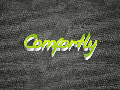 Comfort.ly logo simple logotype pseudo 3d