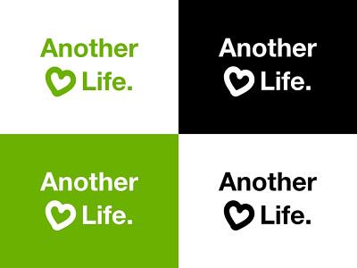 Another Life - Logos responsable solidarity icon typography vector logo engaged branding design logo design logotype