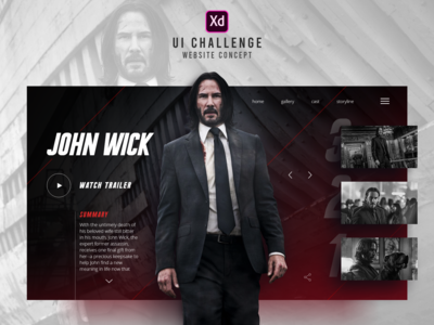 Interface Website - John Wick
