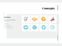 Rebrand presentation document - logos