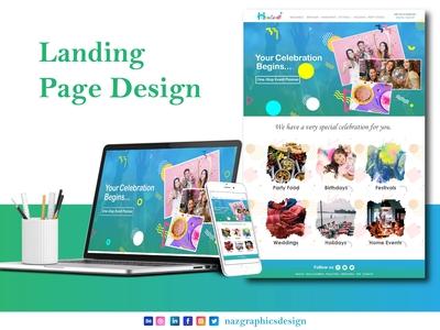 Homevents -Landing Page Design   Naz Graphics Design