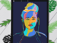 Abstract potrait painting | Naz Graphics Design | India