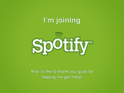 I'm joining Spotify