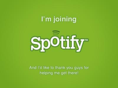 I'm joining Spotify spotify