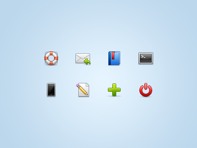 Oh lawd, icons again! 32 32px iconset set interface stock icons icon ui support help email reply book project bookmark terminal iphone smartphone edit page pencil plus add power