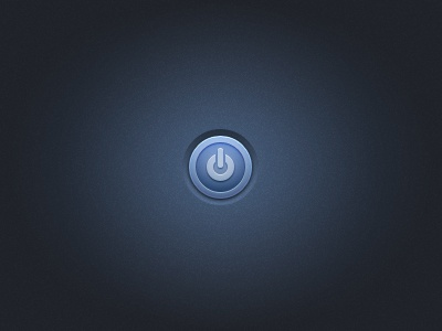 Power button ui interface button icon blue i sure love a noisy background freebie download free psd