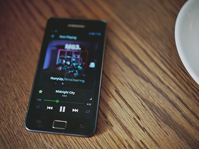Spotify for Android spotify android ui user interface visual design interaction design ux work music player mobile ice cream sandwich holo audio ics google
