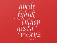 Italic alphabet practice