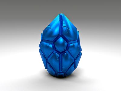 Blue steal egg