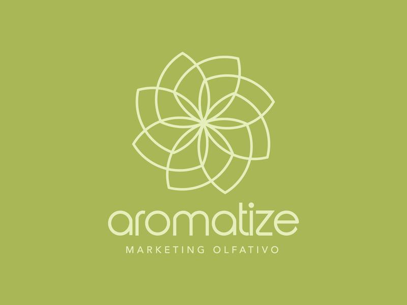 Aromatize Logo minimal flat natural perfume aroma scents flower green logo design branding design branding logo
