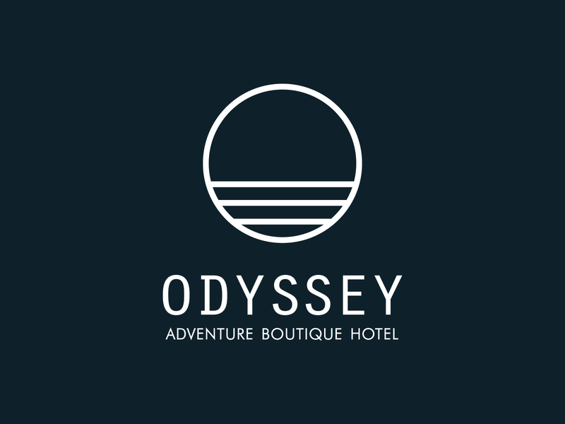Odyssey Branding destinations adventure tourism hotels explore luxury logo design logo stationery branding boutique hotel hotel