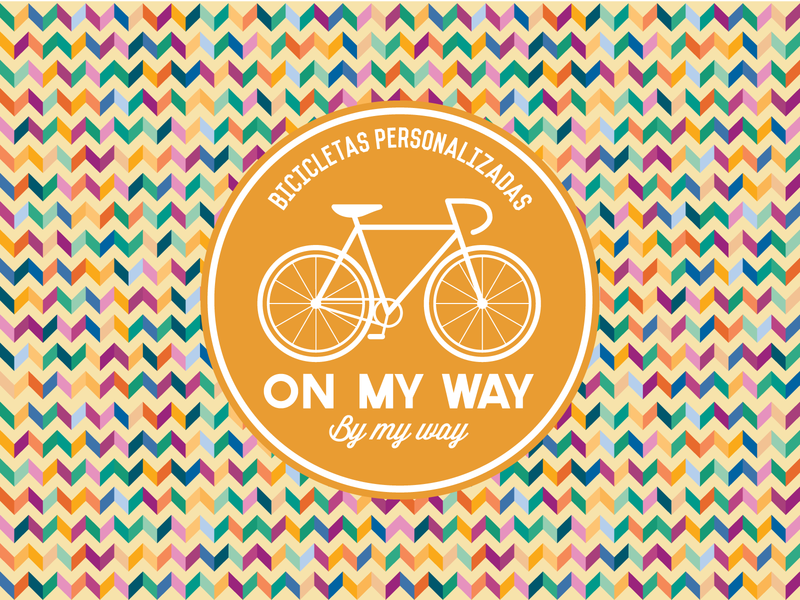 On My Way Branding vintage bicycle bike research forecast chevron groovy personalisation trend brand identity logo branding brand