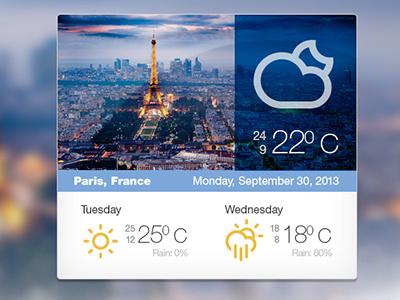 Weather Widget Free PSD weather widget free psd psd widget weather freebie design blue