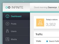Infinite Admin - Free PSD - Detail