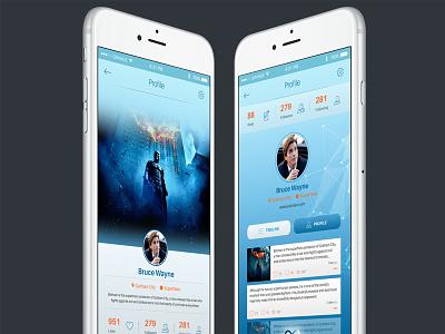 Infinity Mobile Ui Profile Page ui kit psd free psd mobile ui mobile