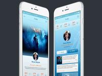 Infinity Mobile Ui Profile Page