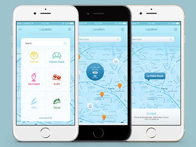 Infinity Mobile Ui Maps ui kit psd free psd mobile ui mobile