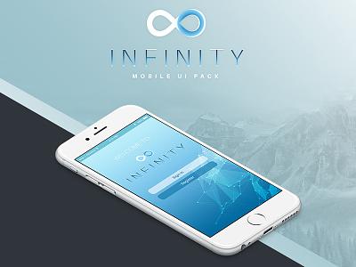 Infinity Mobile UI Free PSD Pack ui kit psd free psd mobile ui mobile