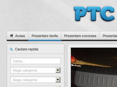 Ptc Auto Website auto website navigation search box design web button