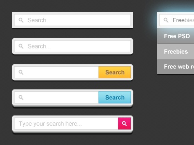Search Forms search form design psd free psd website web freebie button