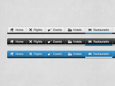 Navigation Bar navigation menu web design website bar black silver blue nav bar