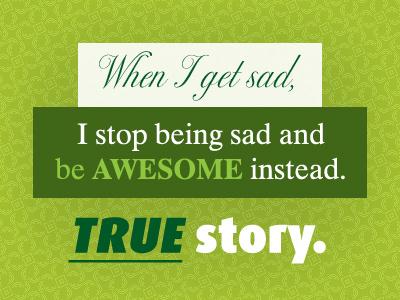 Sad vs. Awesome sad typography design fonts font