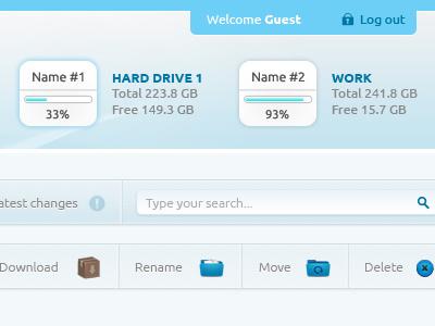 Ftp Manager 2 design website web psd free button navigation manager
