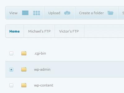 Ftp Manager 3 design website web psd free button navigation manager