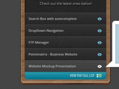 Listing Widget Box widget design box list box psd free psd photoshop