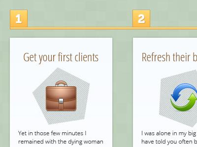 Simple Business Steps #1 business design steps clients psd free psd photoshop web design ui freebie