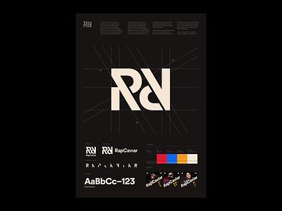 RapCaviar Guidelines Poster playlist identity guide music hip hop guidelines rapcaviar poster typography design branding spotify