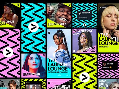 Vertigo Music patterns pattern vibrant music artists brand identity system design branding vertigo music