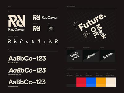 RapCaviar Identity Guidelines intro off-white tan red identity animation logo rap music hip hop rapcaviar spotify