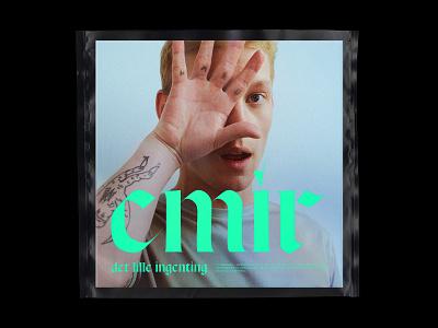 EMIR plastic artist green typography blackletter design cover album artwork music