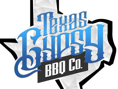 Texas Gypsy BBQ Co   color branding logo design