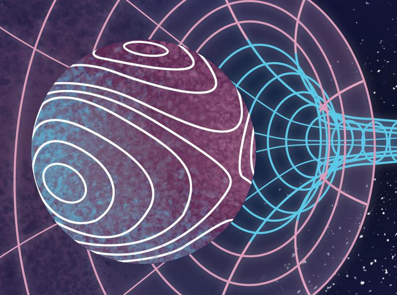 Flexibility sphere stars hole wormhole space design charactedesign children art art illustration
