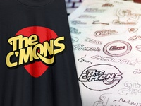 The C'mons logo + sketches