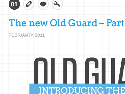 First Article website typography grid layout illustrator