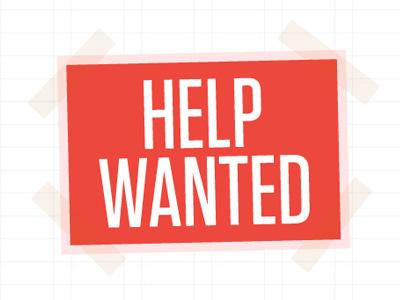 Help Wanted website typography grid illustrator