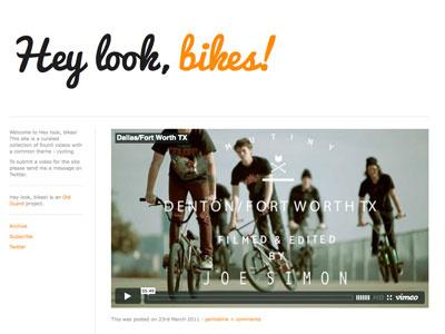 Hey look, bikes! tumblr typography web video bicycle