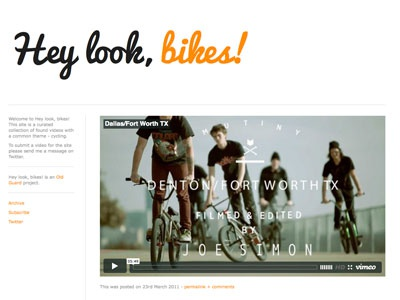Hey look, bikes! tumblr typography web video bicycle