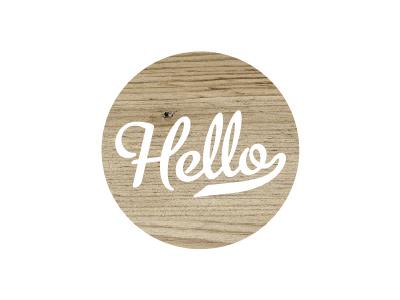 Hello type website wood