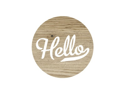 Hello type website wood