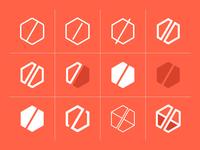 Logo Explorations Part 2 illustrator logo branding geometric vector clean identity minimalist