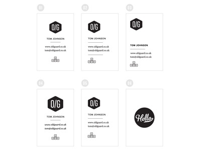 Old Guard business cards 2 print logo business cards type letterpress