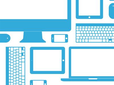 Devices vector illustrator illustration