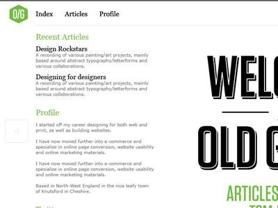 Old Guard v.4 website typography grid layout illustrator logo