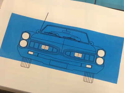 Screenprinting Results illustrator screenprinting print illustration vector car printing